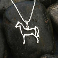 Horse Pendant on Box Chain | Sterling Silver | Length 16 Inches | No Stone