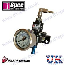 D1 SPEC FUEL PRESSURE REGULATOR BLACK up to 450BHP WITH SKON GAUGE JDM DRIFT