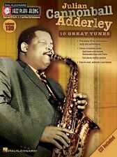 Jazz Play-Along Julian Cannonball Adderley Saxophone Clarinet Music Book &CD