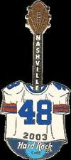 Hard Rock Cafe NASHVILLE 2003 FOOTBALL JERSEY #48 Guitar PIN ALL HRC TEAM