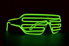 EL Wire Halloween costume kids sunglasses Light Up Electro Shutter rave EDM