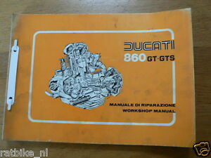 DUCATI 860GT AND 860GTS WORKSHOP MANUAL,MANUALE DI ORIGINAL MOD 797 1976 PH001