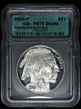 2001 P American Buffalo Silver Dollar ICG PR 70 DCAM
