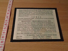 MEMORY OF GENERAL DRAZA MIHAILOVIC SERBIAN CHETNIK - ORTHODOX CHURCH FOR BELGIUM