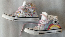 CONVERSE ALL STAR UNICORN RAINBOW size juniors 1 high top laces sneakers