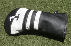 Callaway Vintage Style Leather-Style Black/White Driver Headcover,MINT