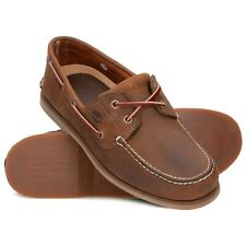 Timberland Classic 2 Eye Brown Boat/Deck Brown Shoes 1001R