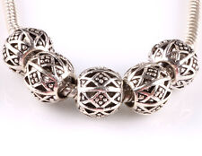 hot 5pcs retro Tibetan silver big hole beads fit Charm European Bracelet B#604