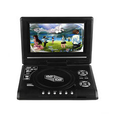 """7.8"""" Portable DVD Player Rechargeable Swivel Screen In Car Charger, SD USB"""