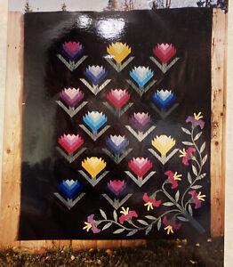 Mountain Paintbrush flower quilt pattern Bear Paw Productions Alaska pieced