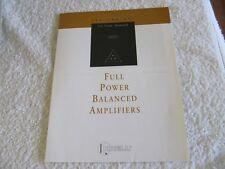 Krell Full Power Balanced Amplifiers  FPB 200   FPB 300  FPB 600