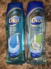 Lot of 2 Dial Spring Water & Coconut Water Body Wash 16 fl oz.