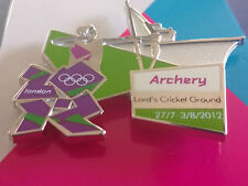 Rare London 2012 Jeux Olympiques de tir à l'arc venue Sports pose pin badge