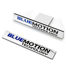 2x Bluemotion Technology Alloy Labels Emblems Grill & Back Badge Sticker For All
