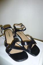 Schwarze Sandalen aus Leder Größe 4 von Salamander NEU Ungetragen
