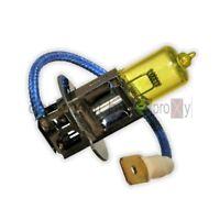 1Paar H3 Nebelscheinwerfer Birnen Gelb mit Kabel Pk22s Yellow 12V Fog Bulb NEU B