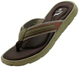 NORTY Men's Memory Foam Comfort Footbed Flip Flops Thong Strap Sandals