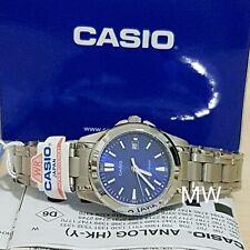 Genuine Casio Dress Watch Women's Analog Quartz Blue Dial Date 50M LTP-1215A-2A2