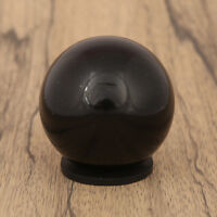 Black Tourmaline Sphere Stone Ball With Ring Stand Aura Balancing Crystal