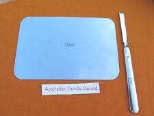 JICO Mixing Plate/Palette + Spatula Acrylic  Nail Art  Eye Shadow Stainless Tool