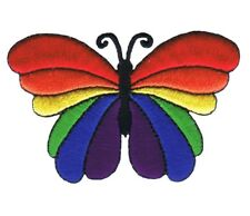 """Butterfly Applique Patch - Rainbow, Insect, Antennae, Wings 2.75"""" (Iron on)"""