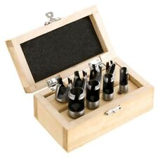 Shop Fox Steelex 8 Pc Plug Cutter Cutting Set 1/4 3/8 1/2 5/8 + Wood Case New