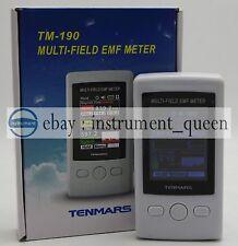 TENMARS TM-190 EMF Meter Gauss 3-axis Magnetic Electric RF Field Strenght