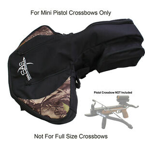 SAS Pistol Crossbow Bag w/ Shoulder Strap Arrow Holder Camo Black Prophecy Cobra