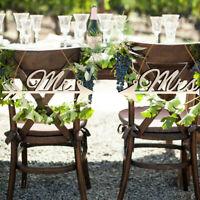 1Pair Mr & Mrs Arrow Signs Wedding Party Chair Decor Rustic Wood Wedding SignXI