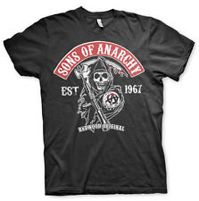 Licensed Sons of Anarchy- Redwood Original Red Patch BIG&TALL 3XL,4XL,5XL TShirt