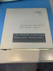 Ampex VR1200B Service Manual Volume III