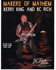 2006 B.C. RICH  Metal Master V Electric Guitar KERRY KING of Slayer Vintage Ad