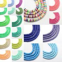 Flat Round Environmental Handmade Polymer Clay Bead Spacer 3/4/5/6mm Jewelry DIY