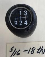 Leather grain pear shape gearshift knob 4 gear pattern 5/16 18 thread Used