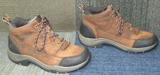 Wmns Ariat ATS Terrain H2O Brown Leather Ankle Boots sz 8.5 B