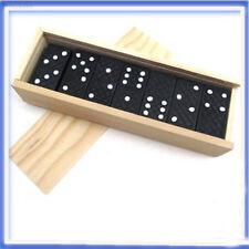3C7D 28 un./Conjunto de madera Dominó Tradicional Juguete Niños Regalos de Juego de Tablero Gracioso