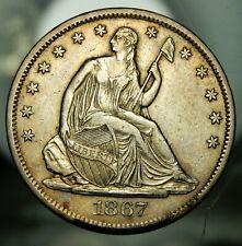1867 S Seated Liberty Half Dollar - XF !!