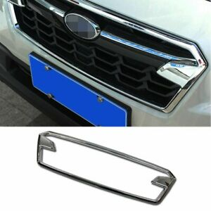 Fit For Subaru  XV/Crosstrek 2018 2019 Front Grill Grille Cover Trim Chrome