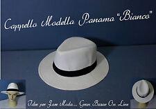 CAPPELLO MODELLO PANAMA BIANCO PARTY Accessori Amimazione Moda Mare 89a7dc65fd18