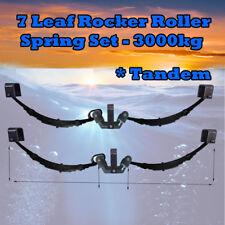 Spring 7 Leaf Rocker Roller Tandem Trailer RATED AT 3000KG Black  (Set)