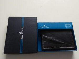NAUTICA TRIFOLD LEATHER Wallet Portafoglio Portfolio  Portefeuille Brieftasche