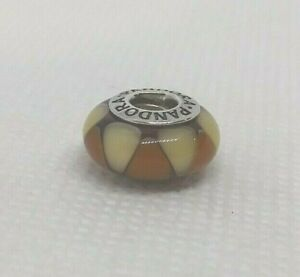 Authentic PANDORA Sterling Silver Glass Charm CAPTIVATING AMBER #790638