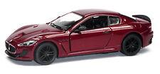 Maserati Granturismo MC Stradale modèle de collection 1:38 foncé rouge article neuf Kinsmart