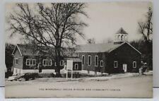 Winnebago Nebraska, Indian Mission and Community Center Photo Postcard B5