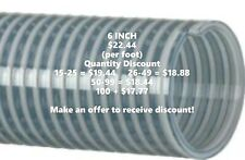 Kanaflex 110 Cl 6 Inch Water Suction Hose Clear Pvc Per Foot