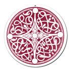 Fenster Glas Bild Nr 50. Mandala 3. rot Ø 10cm Licht Fänger keltisches Symbol