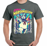 STAY PUFT T-SHIRT Mens Ghostbusters Attack Of The Marshmallow Man Funny Unisex