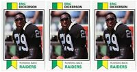 (3) 1993 SCD #6 Eric Dickerson Football Card Lot Los Angeles Raiders