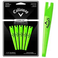 "CALLAWAY ETERNI TEES 3 1/4"" (83mm) - ULTRA STRONG GOLF TEES X 5 PACK / GREEN"
