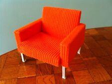 Sessel orange Bodo Hennig  70er Jahre Puppenhaus Puppenstube 1:12 Zubehör